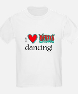 i love neon dancing over white background T-Shirt