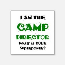 "camp director Square Sticker 3"" x 3"""