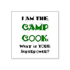 """camp cook Square Sticker 3"""" x 3"""""""