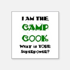 "camp cook Square Sticker 3"" x 3"""