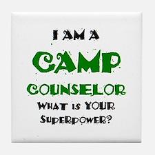 camp counselor Tile Coaster