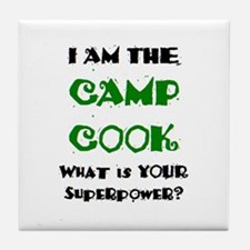 camp cook Tile Coaster