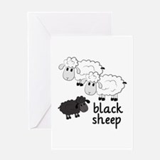 Black Sheep Greeting Cards