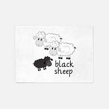 Black Sheep 5'x7'Area Rug