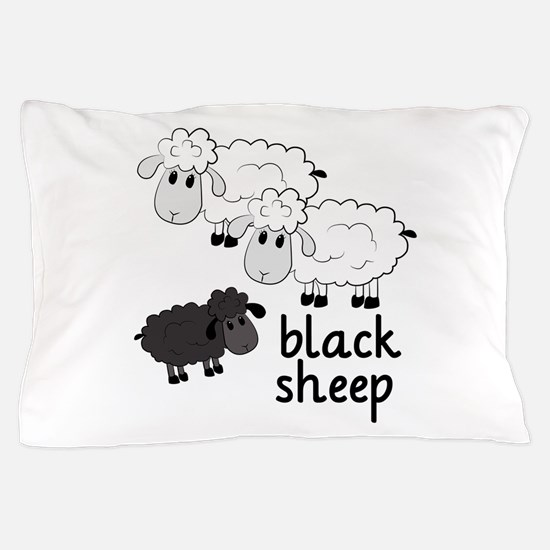 Black Sheep Pillow Case