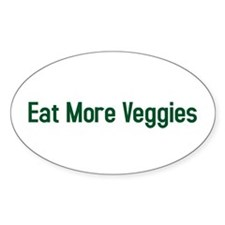 eat more veggies Oval Decal
