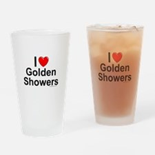 Golden Showers Drinking Glass