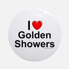 Golden Showers Ornament (Round)