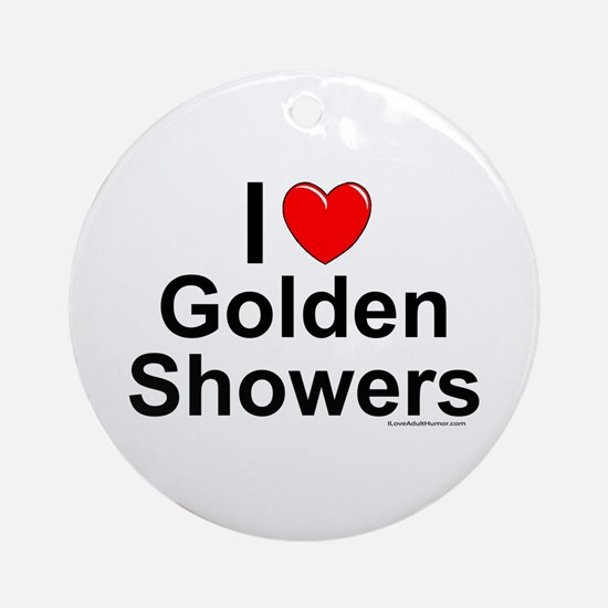 Golden Showers Ornament (Round)