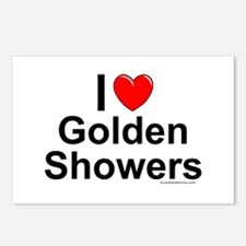 Golden Showers Postcards (Package of 8)