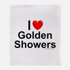 Golden Showers Throw Blanket