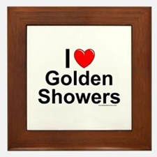 Golden Showers Framed Tile