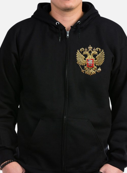 Russian Federation Coat of Arms Zip Hoodie