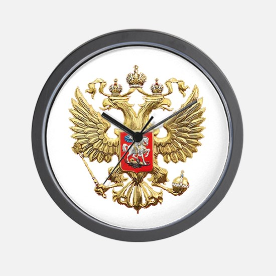 Russian Federation Coat of Arms Wall Clock