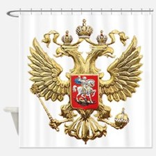 Russian Federation Coat of Arms Shower Curtain