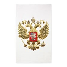 Russian Federation Coat of Arms Area Rug