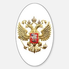 Russian Federation Coat of Arms Sticker (Oval)