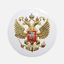 Russian Federation Coat of Arms Ornament (Round)