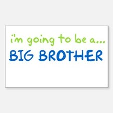 i know something big brother Rectangle Decal