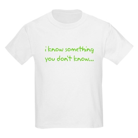 i know something big brother Kids Light T-Shirt