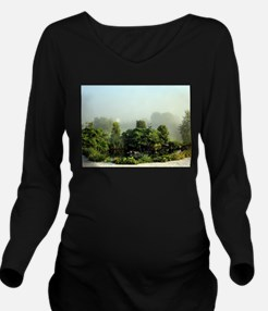 Garden in mist, Arzu Long Sleeve Maternity T-Shirt