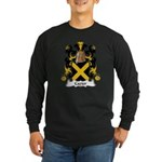Cazier Family Crest Long Sleeve Dark T-Shirt