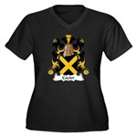 Cazier Family Crest Women's Plus Size V-Neck Dark