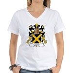 Cazier Family Crest Women's V-Neck T-Shirt