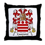 Caumont Family Crest  Throw Pillow