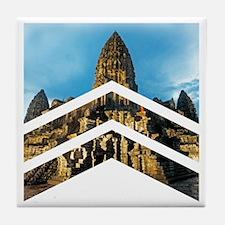 Cute Cambodia Tile Coaster