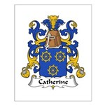Catherine Family Crest Small Poster