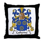 Catherine Family Crest Throw Pillow