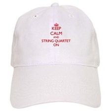 Keep Calm and String Quartet ON Baseball Cap