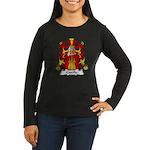 Castille Family Crest Women's Long Sleeve Dark T-S