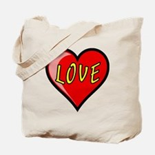 Awesome Love Heart Tote Bag