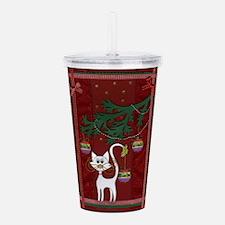 Handmade Kitty Jingle Christmas Card Acrylic Doubl