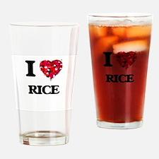 I Love Rice Drinking Glass