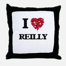 I Love Reilly Throw Pillow