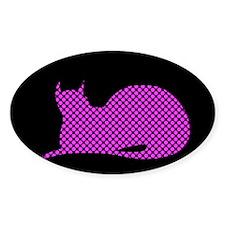 Spotty Dotty Cat on Black Decal