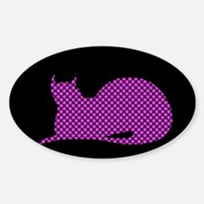 Spotty Dotty Cat on Black Decal