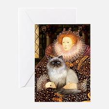 Queen & Himalayan cat Greeting Card