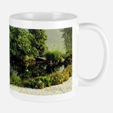 Garden in mist, Arzua,Spain Mugs