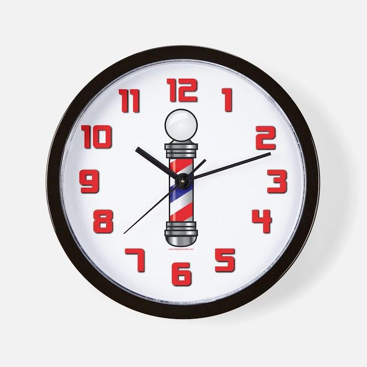 barber shop clocks barber shop wall clocks large. Black Bedroom Furniture Sets. Home Design Ideas