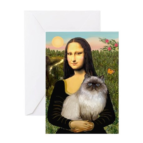 Mona's Himalayan Cat Greeting Card