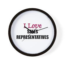 I Love SALES REPRESENTATIVES Wall Clock
