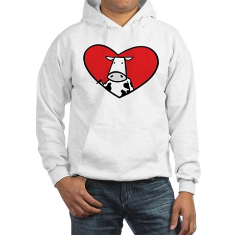 Love Cow Hooded Sweatshirt
