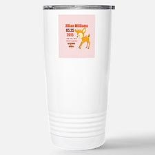 Personalized Woodland B Stainless Steel Travel Mug