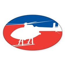 Feedom Helicopter Oval Decal