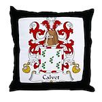 Calvet Family Crest Throw Pillow