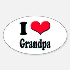 I Love Grandpa Oval Decal